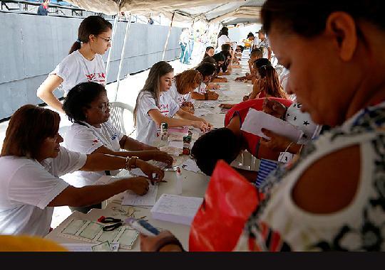 Ação de cidadania encerrou 5ª etapa da campanha Justiça Pela Paz em Casa, Nossa Justa Causa, na Aldeia Cabana, bairro da Pedreira (Foto: null / Ricardo Lima/TJPA)